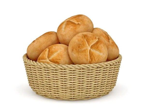 Bread In Basket Food