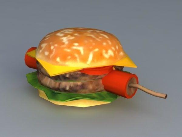 Realistic Burger Explosive