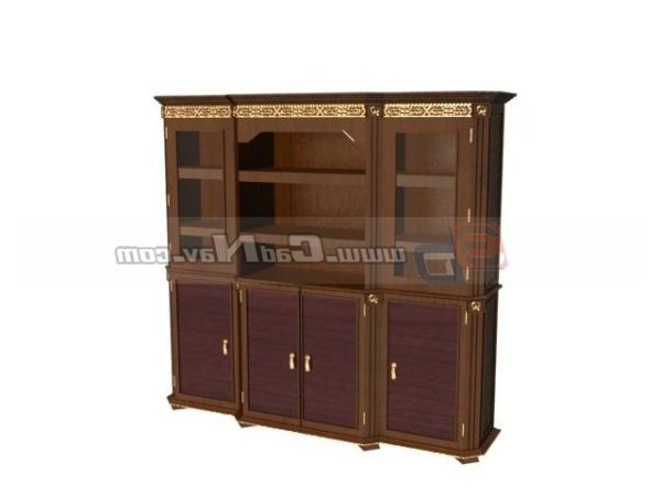 Gabinete de vino de muebles antiguos tallados
