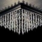 Lyxigt tak kristallkronkrona ljus