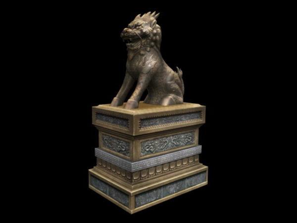 تمثال أسد الجارديان الصيني القديم