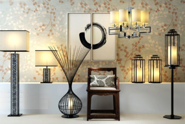 Chinese Style Living Room Lamps Free 3d, Chinese Style Lamps