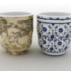 أكواب الشاي الصينية القديمة