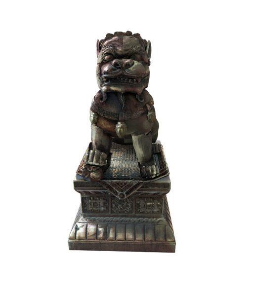 Estatua china del león de piedra
