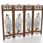 Chinese Painting Decoration Room Divider