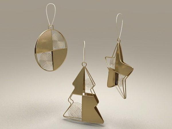 Christmas Star Shapes Ornament