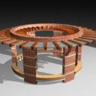 Building Circular Brick Pergola