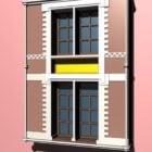 Fenêtres architecturales de style colonial