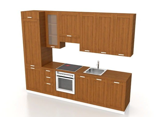 Corridor Kitchen Cabinet Design Free 3d Model Max Vray Open3dmodel 184209