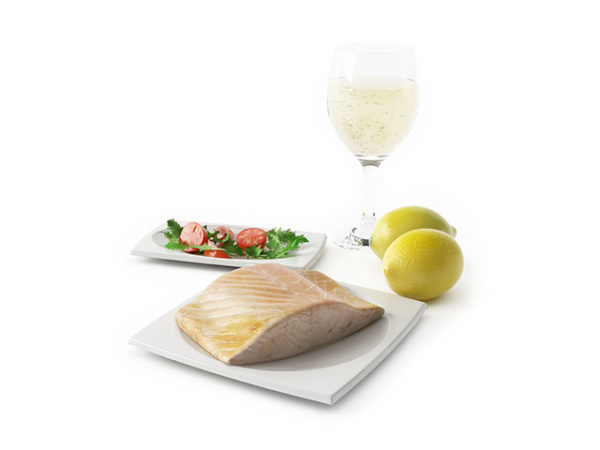 Food Creamed Salmon With Champagne