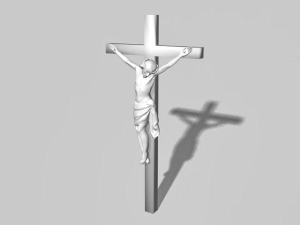 Crucifixión De La Estatua De Jesús