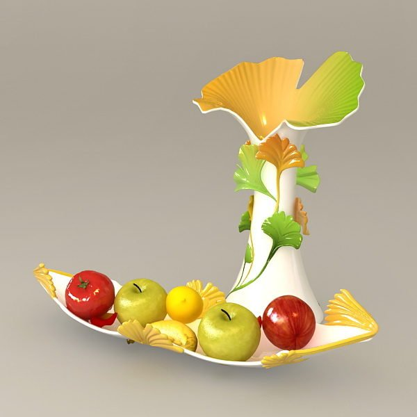 Decorating Vases With Food And Fruit
