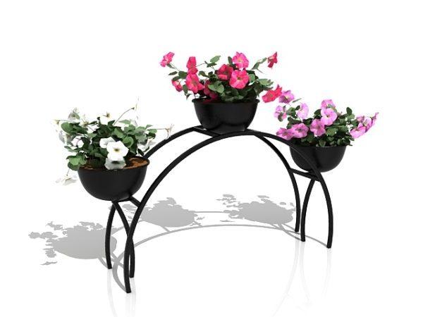 Garden Metal Plant Flower Stand