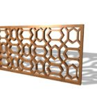 Panneau de treillis de maison en bois design