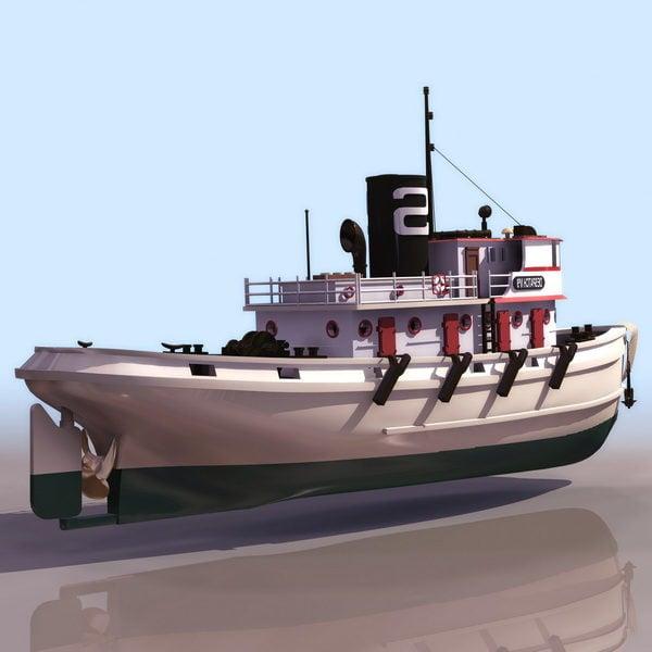 20th Century Diesel Tug Boat