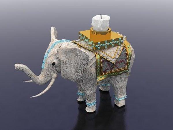 Candelero en forma de elefante