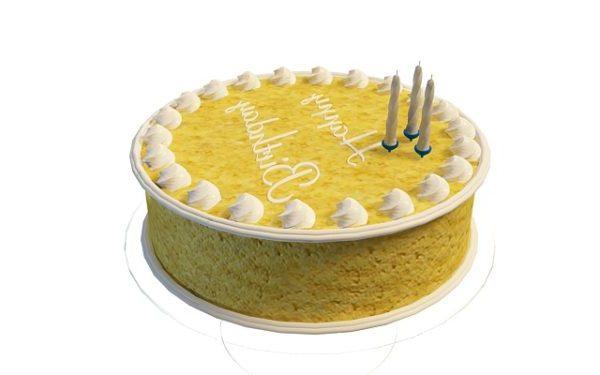 Fancy Cream Birthday Cake