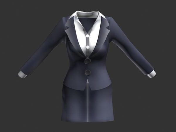 أنثى موحدة بدلة رمادية اللباس