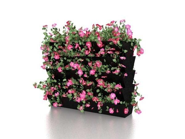 Kukka pensas vihreä seinän kasvit