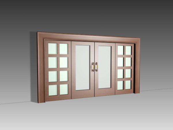 Sistema de puertas de partición de vidrio esmerilado