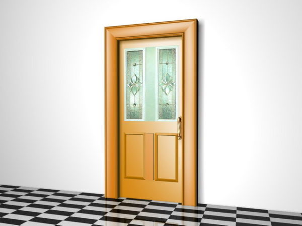 House Front Door With Glass Free 3d Model 3ds Max Vray
