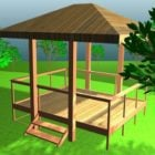 Traditional Asian Garden Gazebo