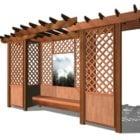 Garden Outdoor Trellis With Bench