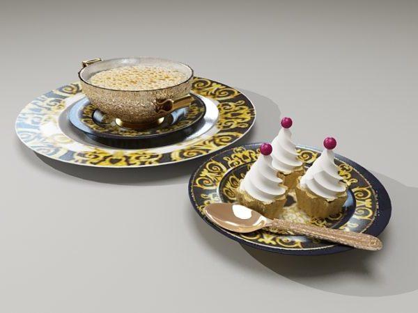 Gelato Cream And Coffee Cake