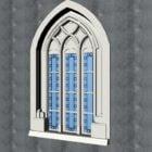 Antik Gotik oyma Windows
