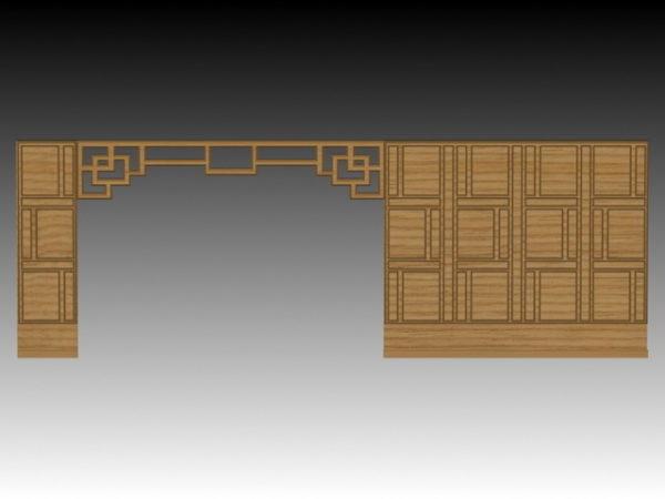 Furniture Half Wall Room Divider Free 3d Model Max Vray Open3dmodel 204751
