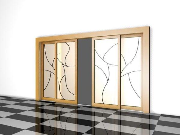 Separadores de interiores de puertas correderas de madera