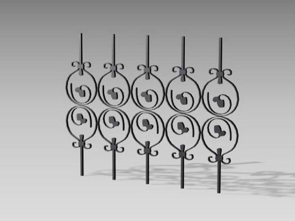Estructura Valla de hierro Piezas Decoración