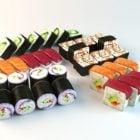 Japansk sushi matuppsättning