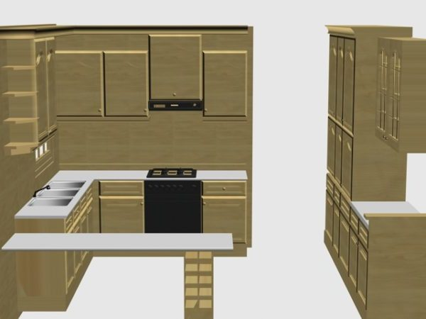 Simple Kitchen Cabinet Design Ideas Free 3d Model Max Vray Open3dmodel 199402