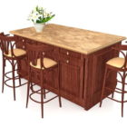 Wooden Kitchen Islands With Seating