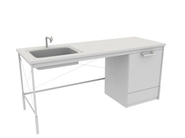 Kitchen Table With Sink Free 3d Model Max Vray Open3dmodel 200356