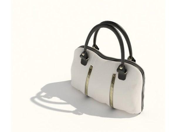 أزياء السيدات حقيبة يد جلدية بيضاء