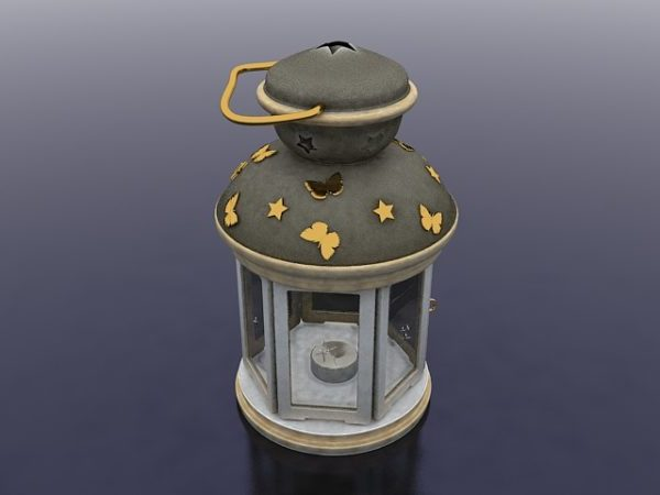 Candelero antiguo de la linterna
