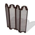 Antique Style Lattice Folding Screen