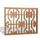 Inserts de grille de fenêtre en bois Design en treillis