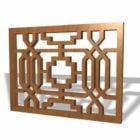 Panneaux de travail en bois treillis