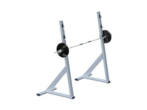 sport center lifting barbell squat rack