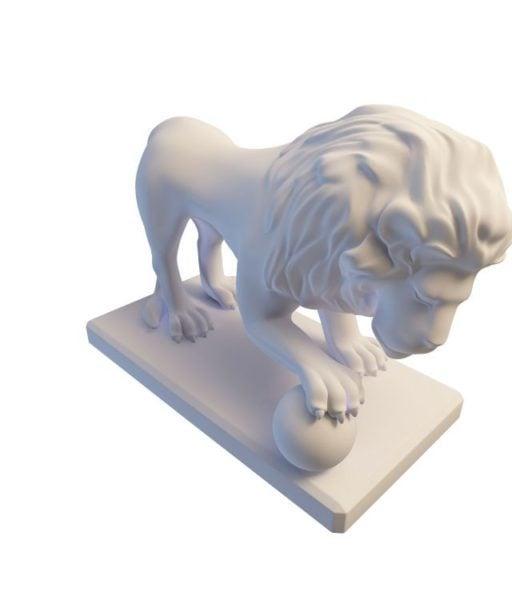 Kivipuutarhan leijonan patsas