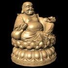 Antique Monk Budai Buddha Statue