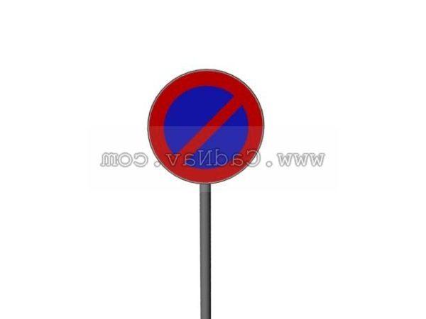 Aucun Signe De Circulation Routiere De Stationnement Modele 3d Gratuit Max Vray Open3dmodel A 186917