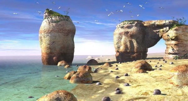 Headlands Ocean Beach Scene