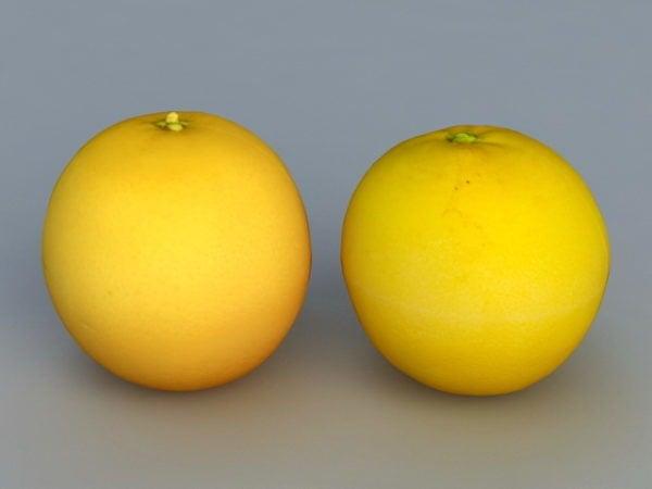 فواكه برتقالية واقعية