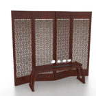 Oriental Wooden Screens Room Divider