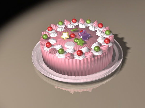 Pink Cake Food