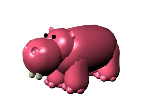 Vaaleanpunainen sarjakuva hippo-lelu